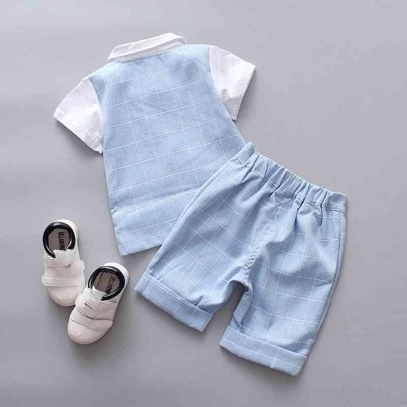 3pcs Summer Baby Blazers Suits Set