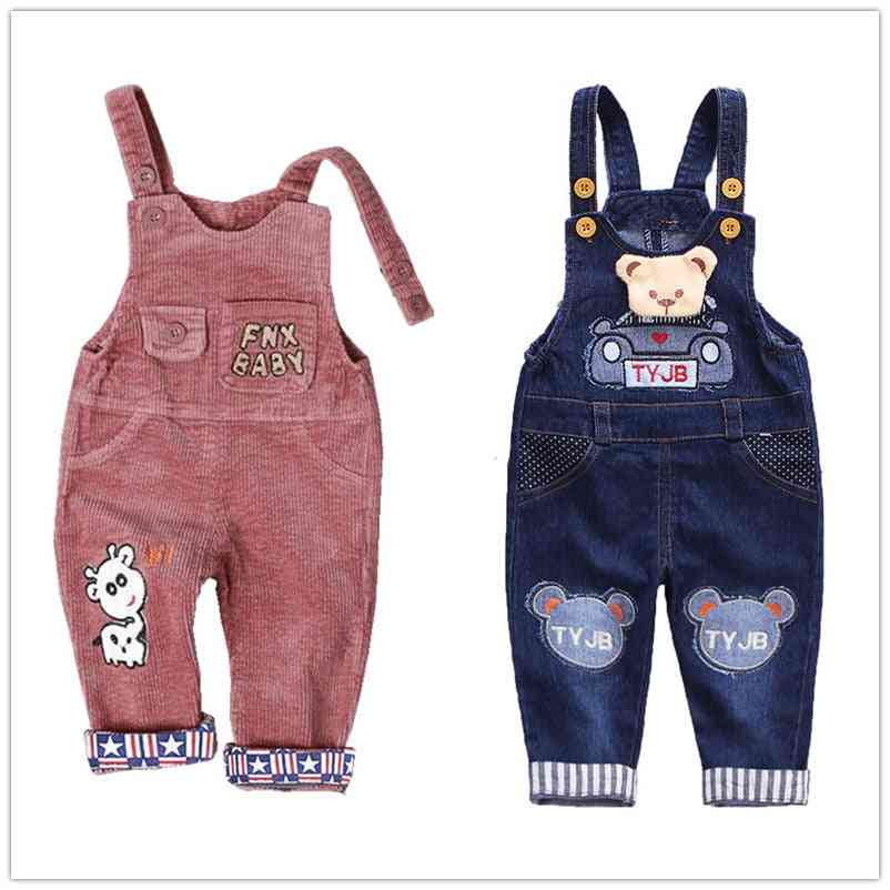Autumn Corduroy Baby Cartoon Denim Baby Rompers-  Bib Kids Overalls Cotton Baby Jumpsuit