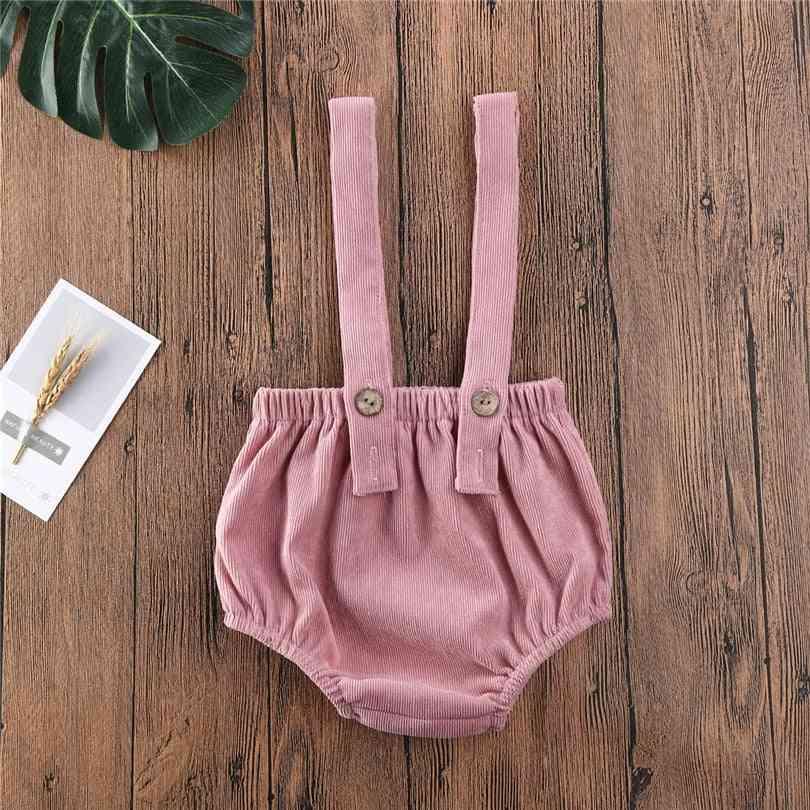 Newborn Toddler / Shorts, Sling Bodysuit / Jumpsuit - Baby Corduroy Overalls Suspender Rompers