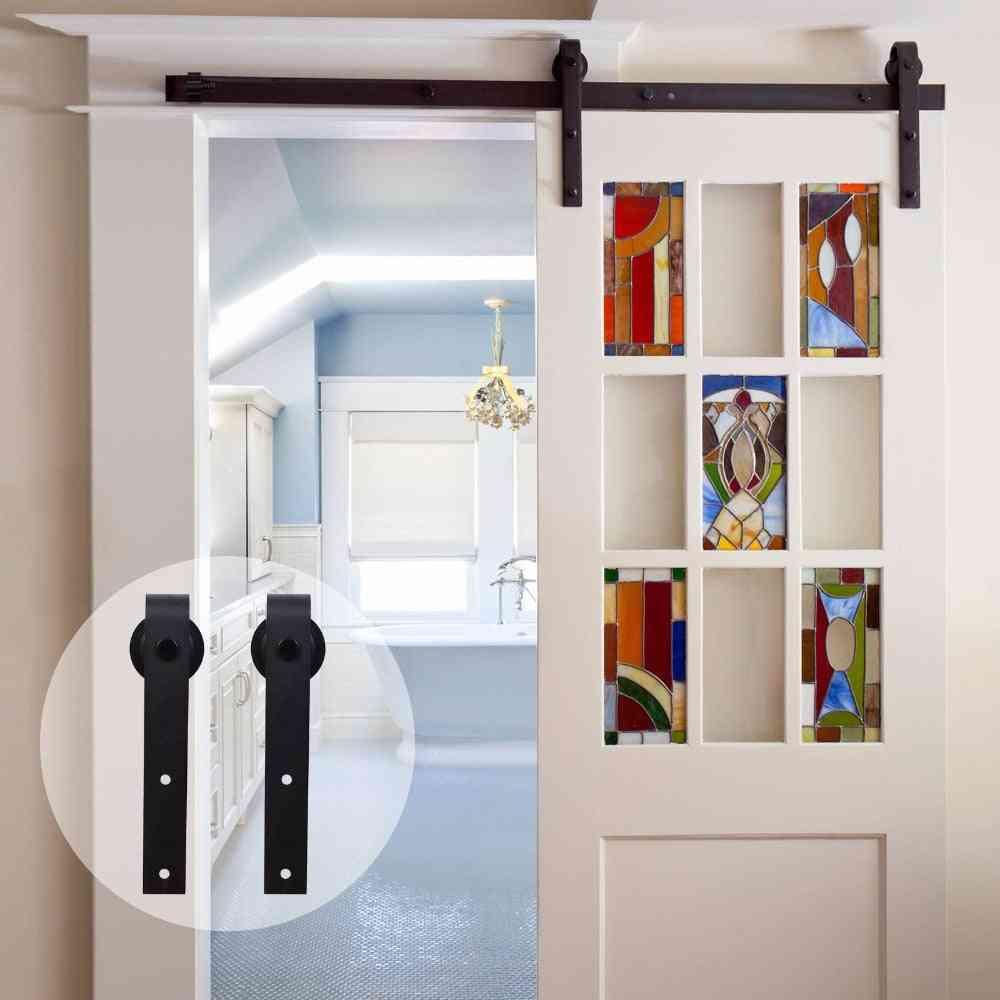 Antique Style, Wooden Sliding Barn Door Kit-top Mounted Closet Hardware