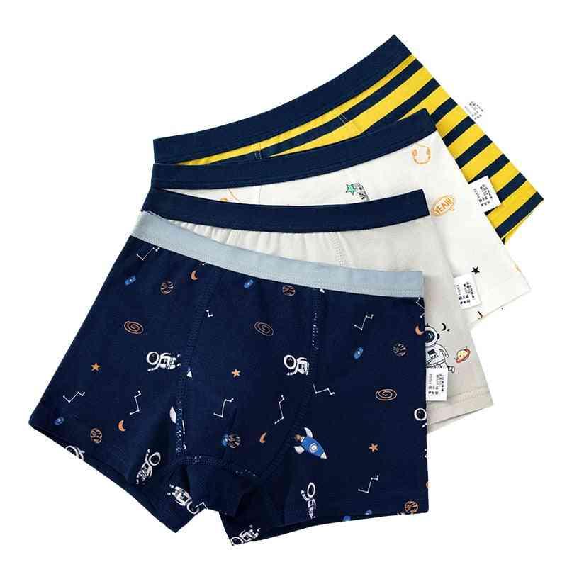 Boys Boxer Underwear, Striped Cotton Shorts