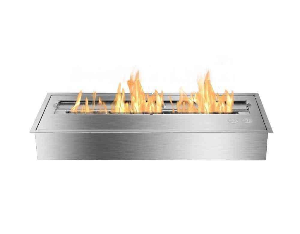 24-inch Stainless Steel, Manual Bio Fireplace