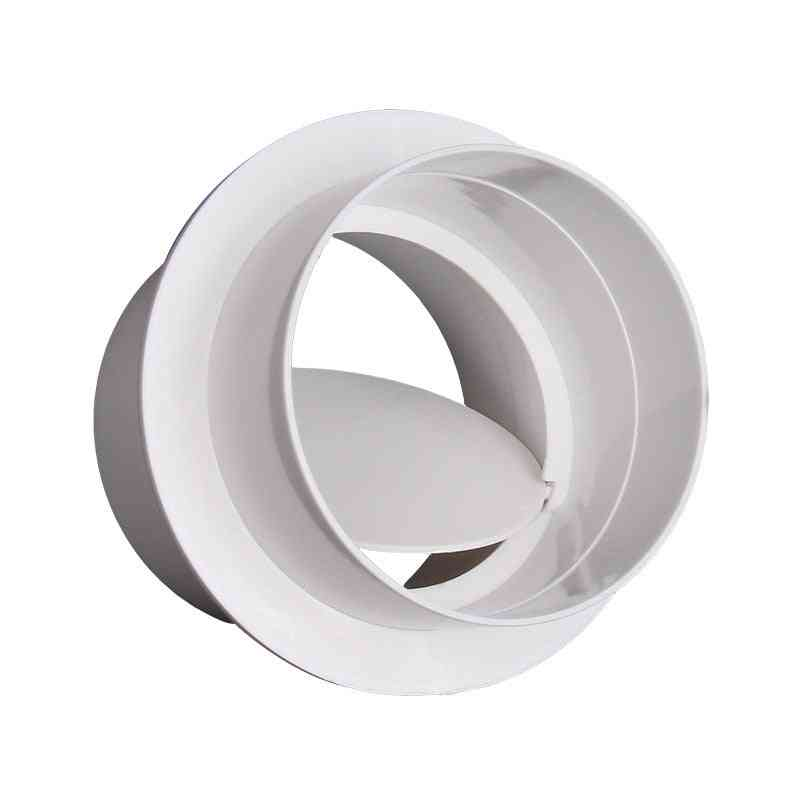 Pvc Exhaust Fan Check Valve- Round Pipe Backdraft Damper Grill System