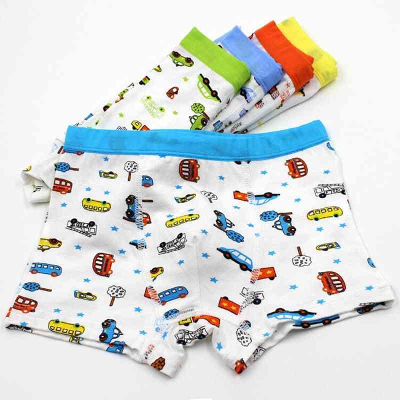 5pcs Soft Underwear, Printed Cotton Boxers