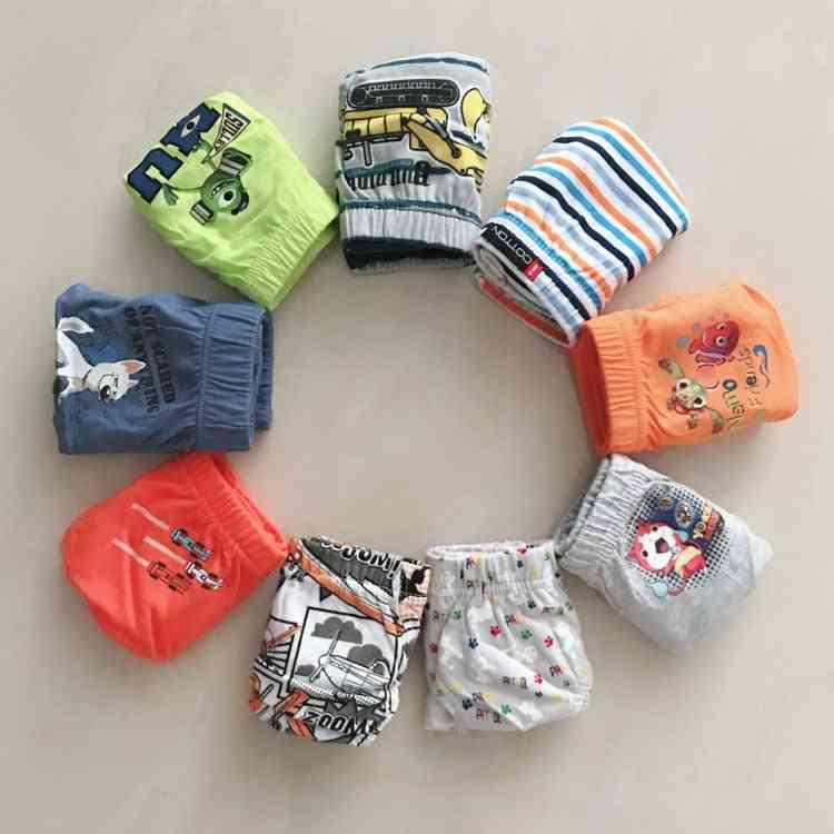 6/pcs Boy's Underwear- Cotton Cartoon Printed Boxers