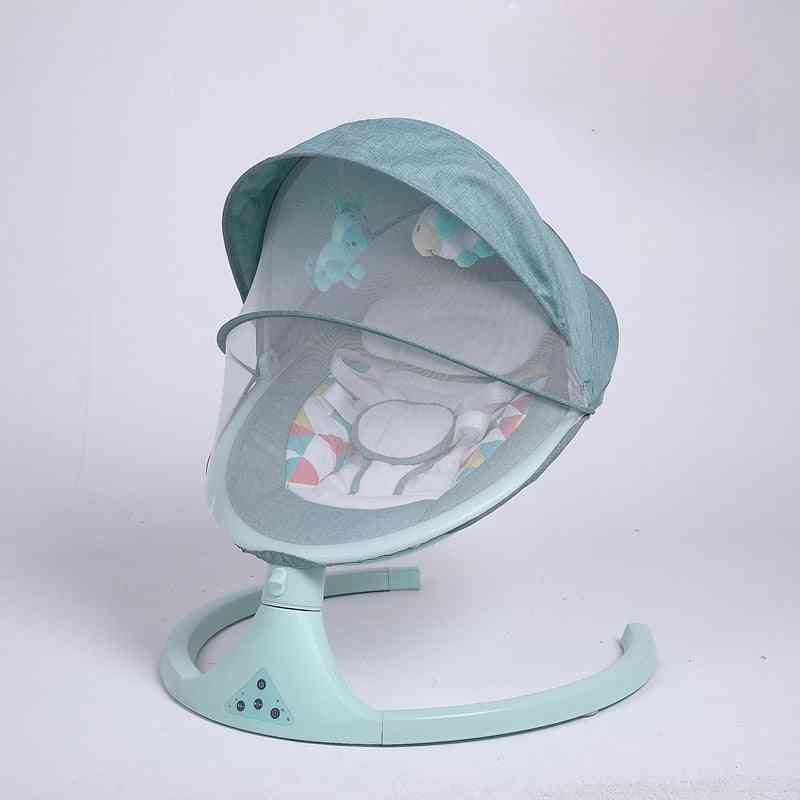 Newborn Baby Sleeping Swing Bouncer, Rocking Soothing Electric Cradle Chair With Seat Cushion