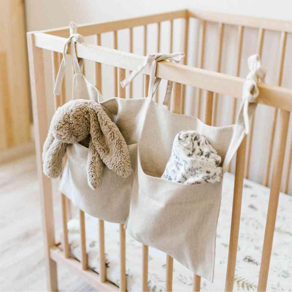 Baby Crib Bed Set, Pocket Nursery Organizer, Hanging Storage Bag
