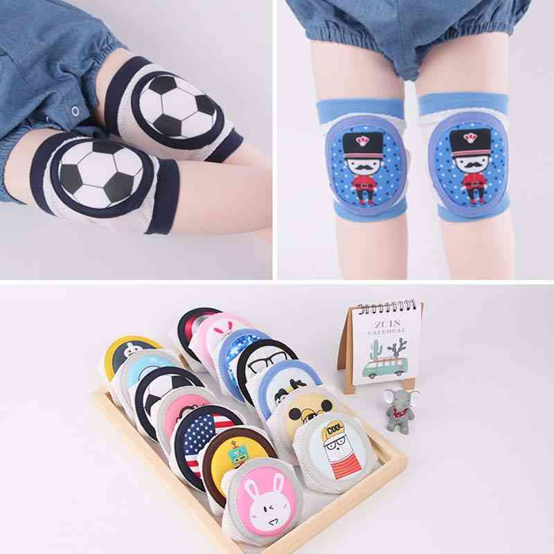 Cartoon Pattern Knee Pads, Crawling Elbow Protector For Kids