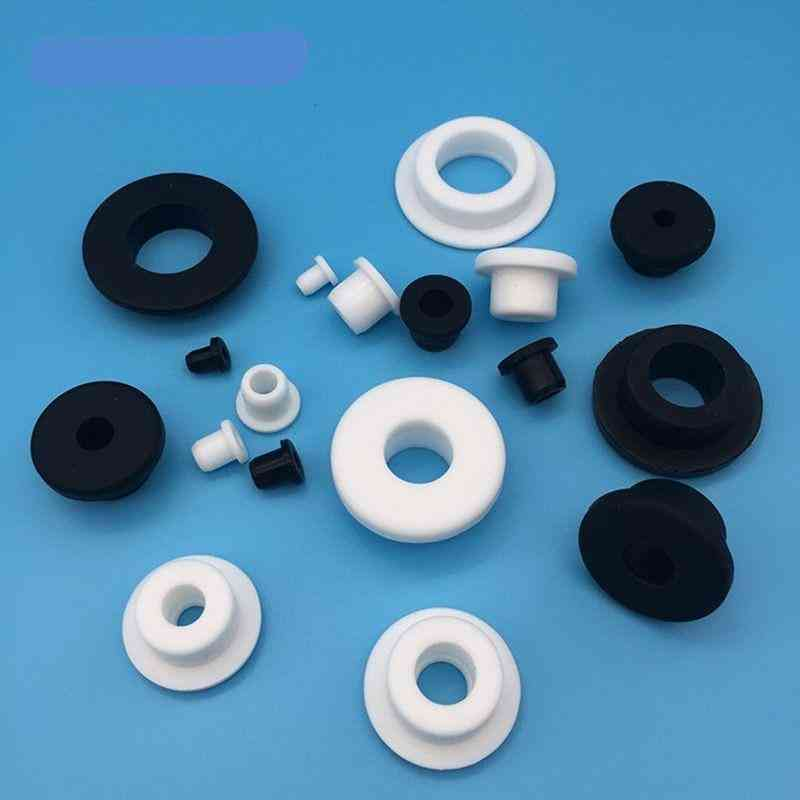 Silicone Rubber Wire Grommet, Round Hollow Plugs With Hole Silicon, End Caps, O-rings Gasket