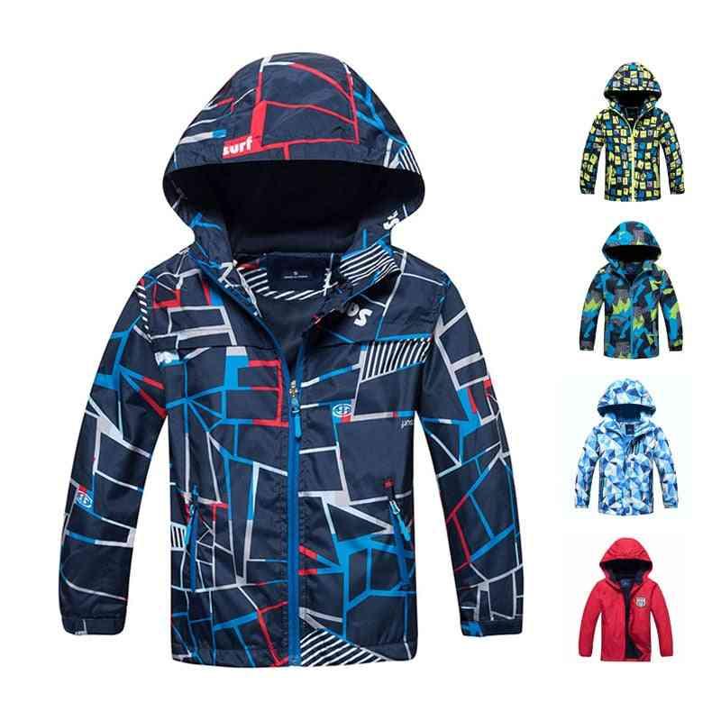 Waterproof And Windproof, Warm Polar Fleece-hoodie Jacket For Kids