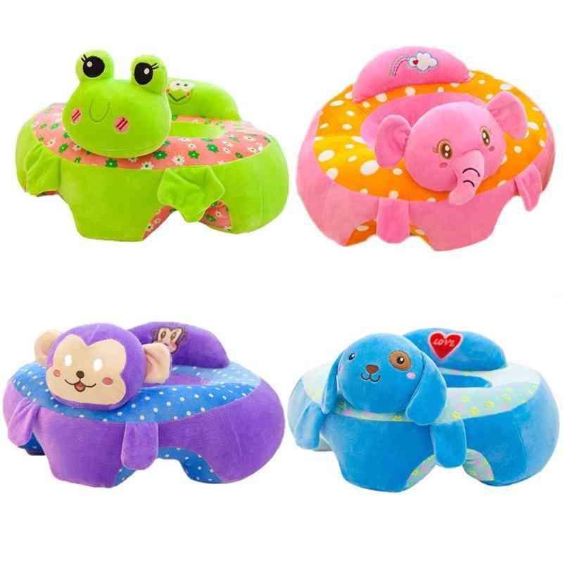 Baby Cartoon Animal Support Seat, Plush Cushion Stuffed Play Toy