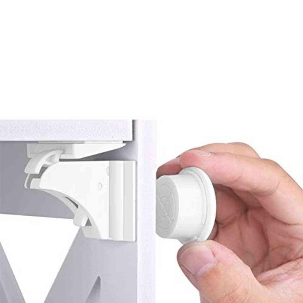 Children Protection Magnetic Safety Lock, Drawer Cabinet Door  Limiter