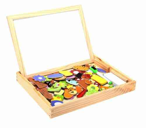Wooden Magnetic Drawing Board- Jigsaw Toy