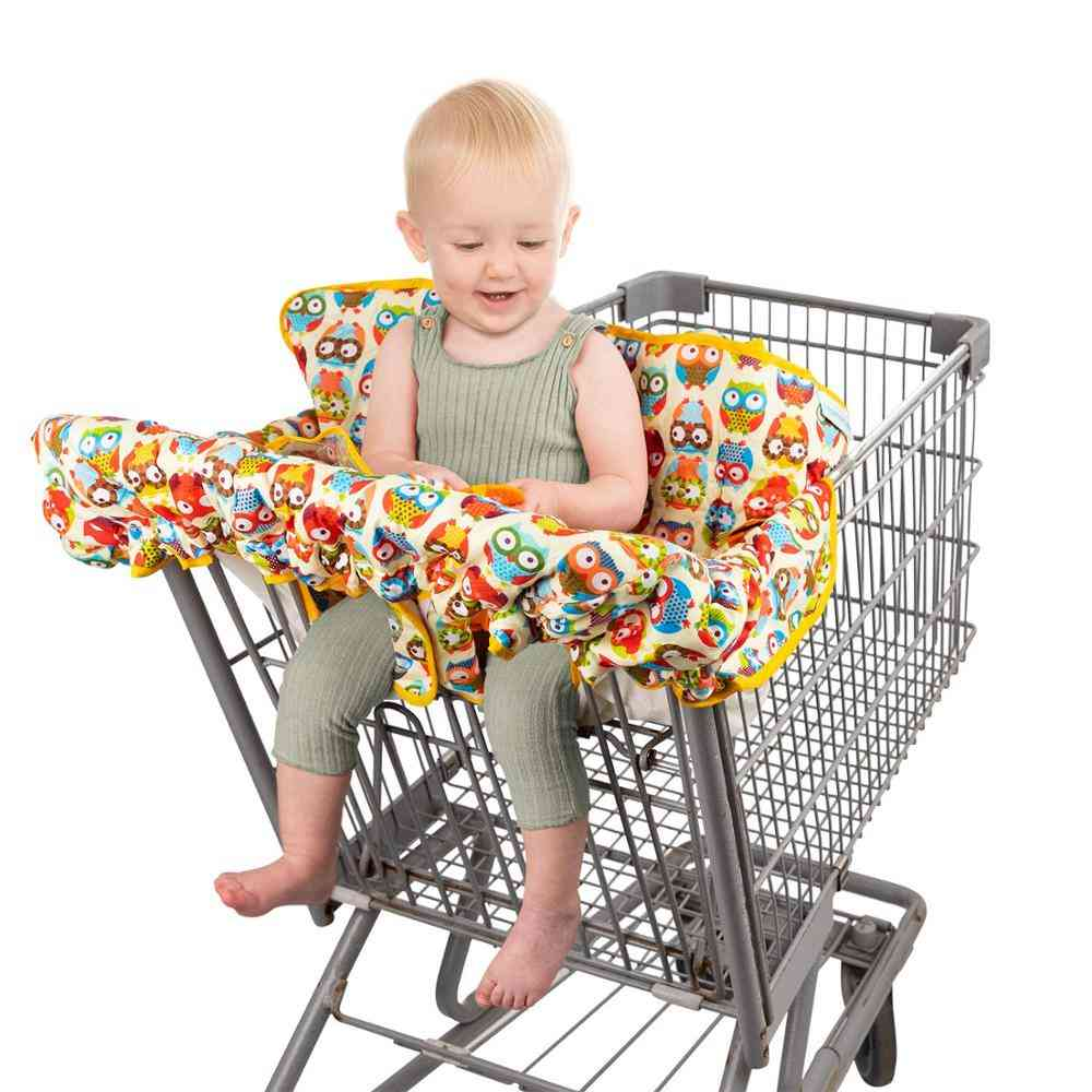 Cartoon Pattern Waterproof And Fold Able Cover For Baby Seat Shopping Cart