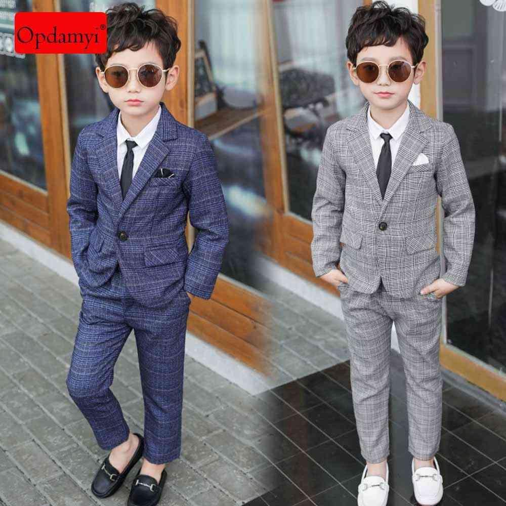 Boy's Casual Suit In 2-piece Coat + Pants