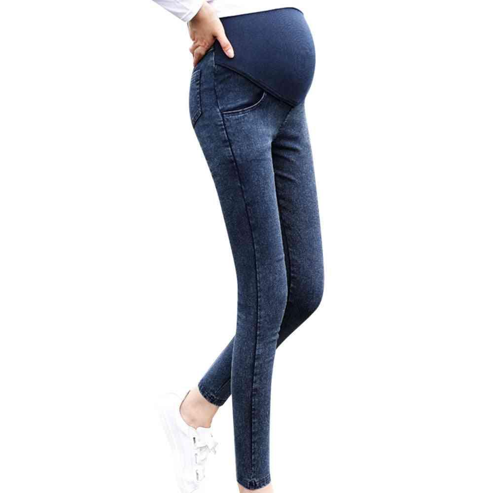 Pregnancy Maternity Elastic Jeans-pencil Pants