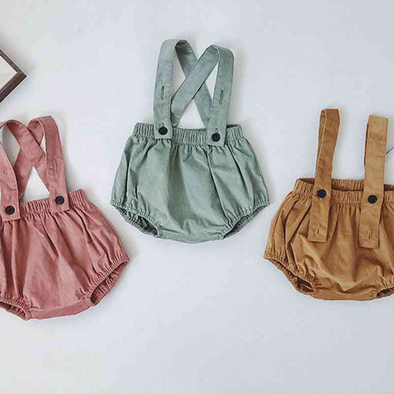 Baby & Korean Bloomers, Lovely Strap Overalls Fashion Solid Fall Bottons