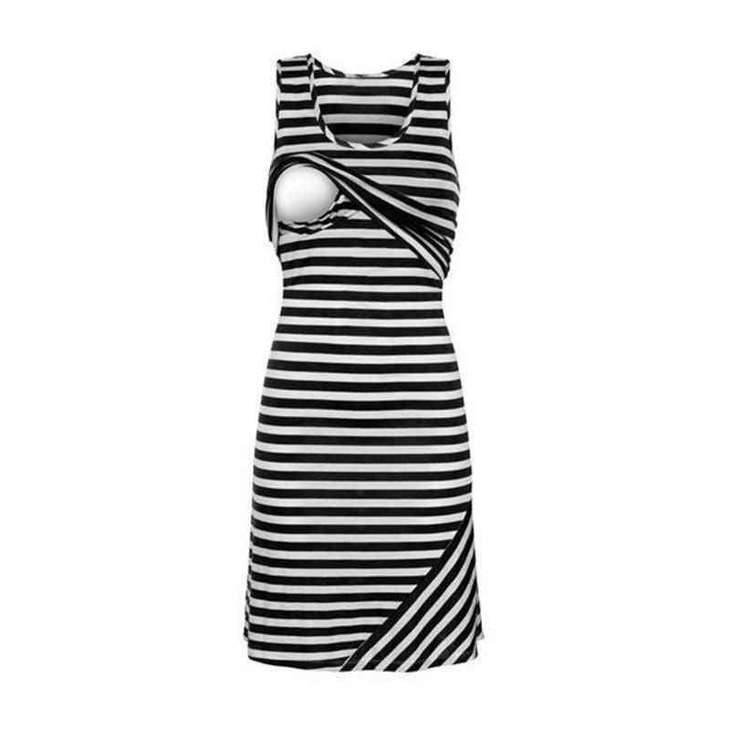 Pregnant Women, Sleeveless  Casual Breastfeeding Dress