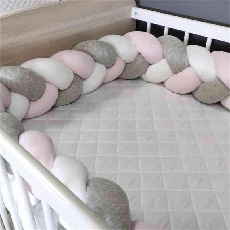 Baby Crib Protector Braid Knot Pillow (100/200/300cm)