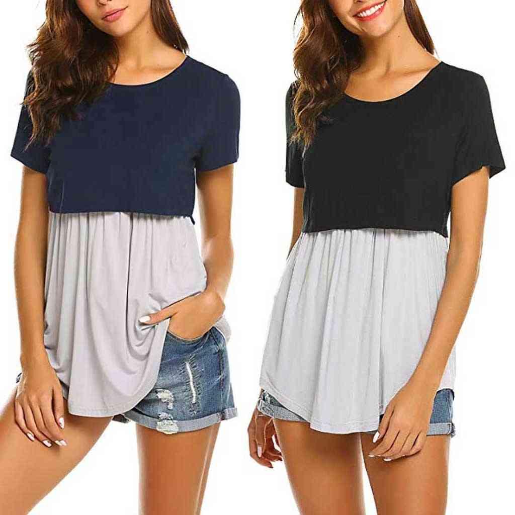 Pregnant  Breastfeeding Top T-shirt Blouse -short Sleeve Clothing