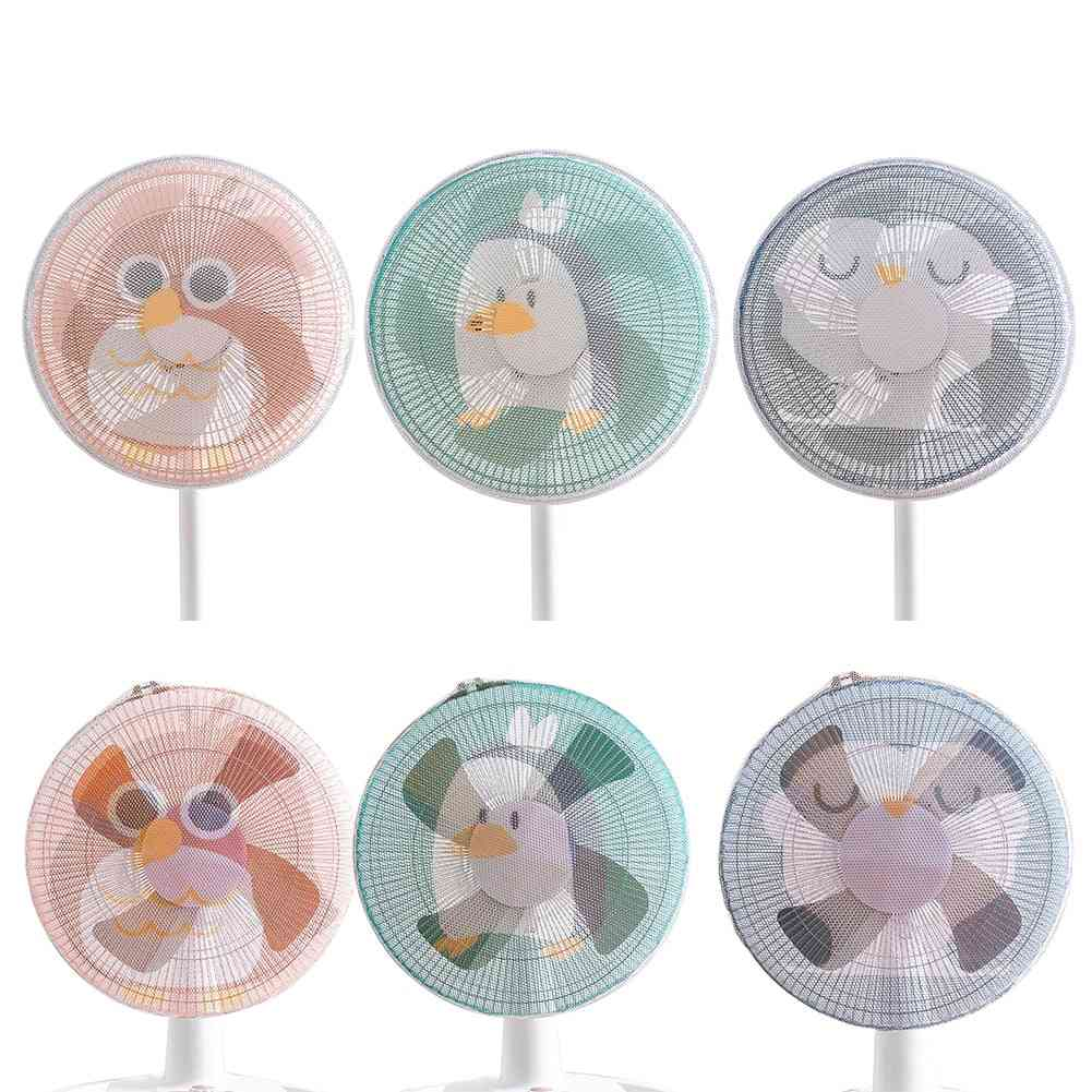 Electric Fan Cartoon Animal Protective Cover