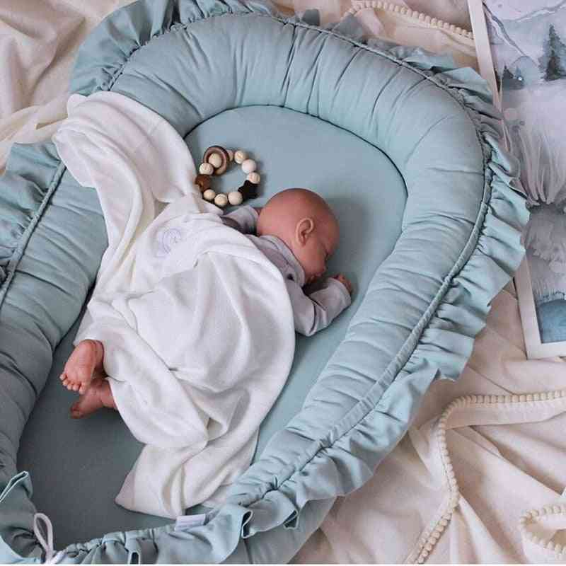 Removable Sleeping Nest For Baby Bed, Crib With Pillow