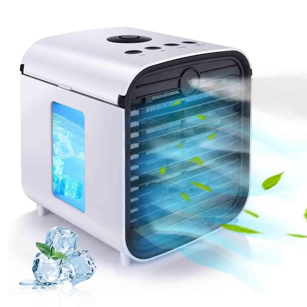 Mini Usb Portable Fans, Air Conditioner Light Desktop Fan