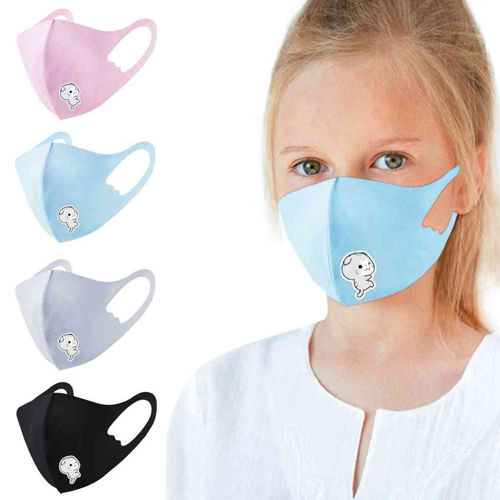Boy & Girl Cotton Washable Adjustable Filter Cartoon Mask