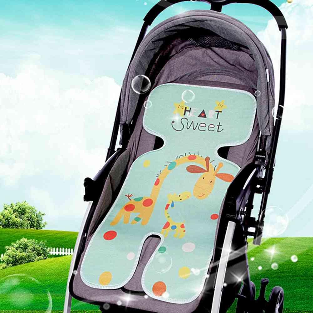 Waterproof Cartoon Print Baby Stroller Mat/cushion