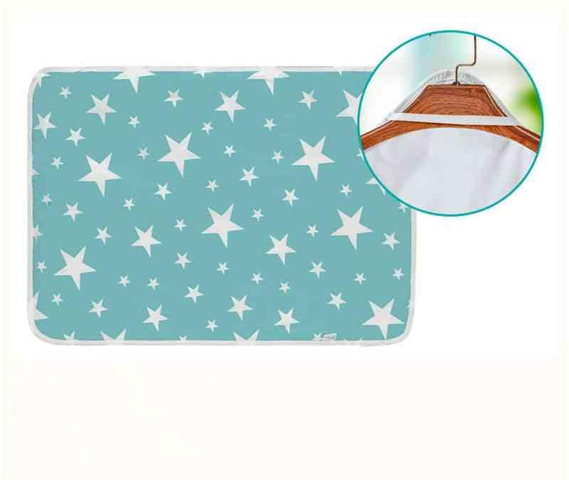 Reusable Baby Diaper Cover For Newborn Cotten Waterproof Changing Floor Play Mat