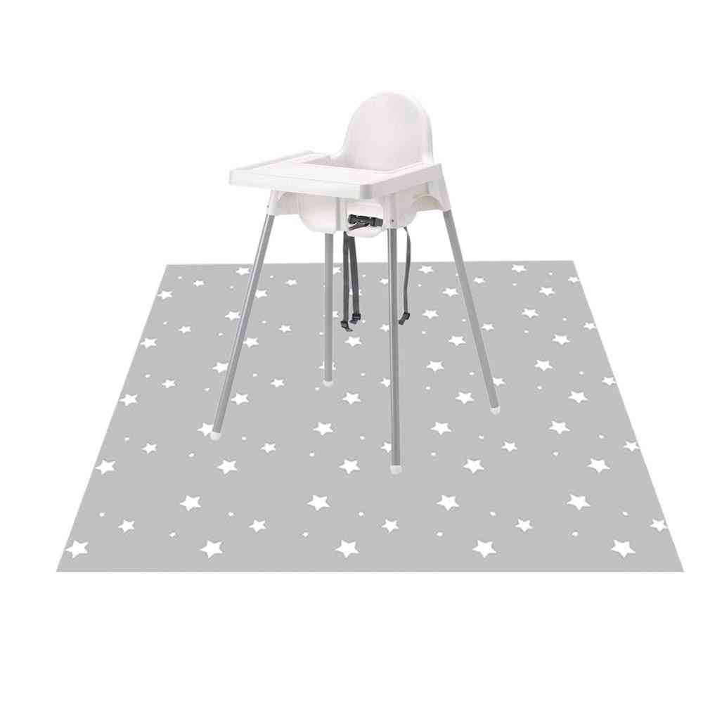 Washable And Leak Proof Splat Floor Mat For Highchair/art Craft