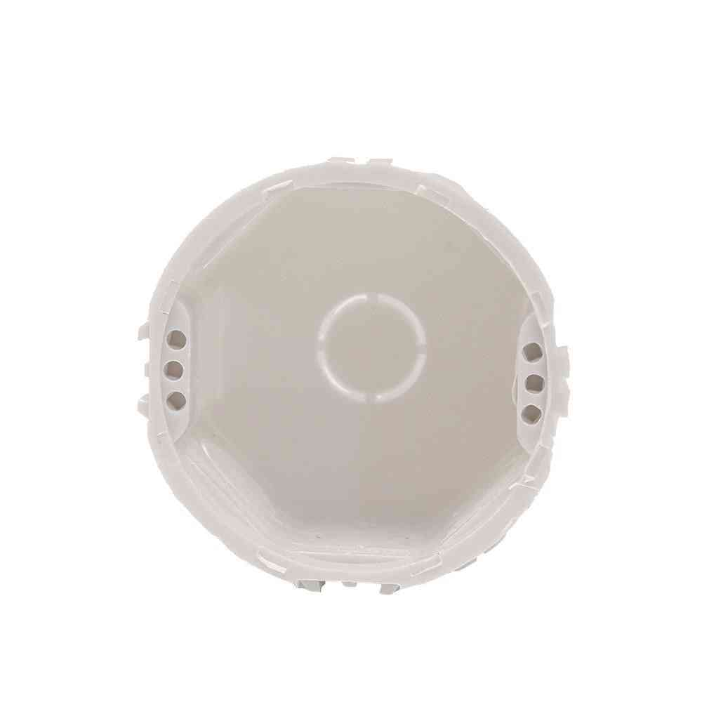 Europe Standard Plastic Round Switch Socket- Mount Wall Box