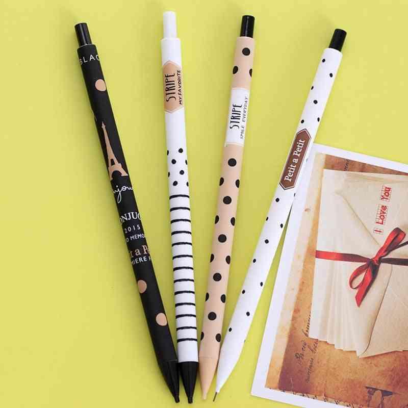 Creative Cute Plastic Mechanical Pencil, Dots Tower Automatic Pen