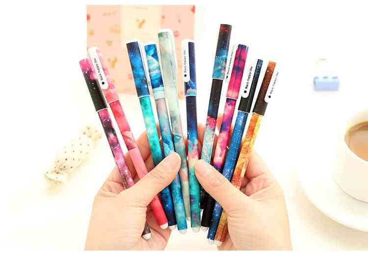 Colorful Printed Gel Pen For School/office Writing Stationary