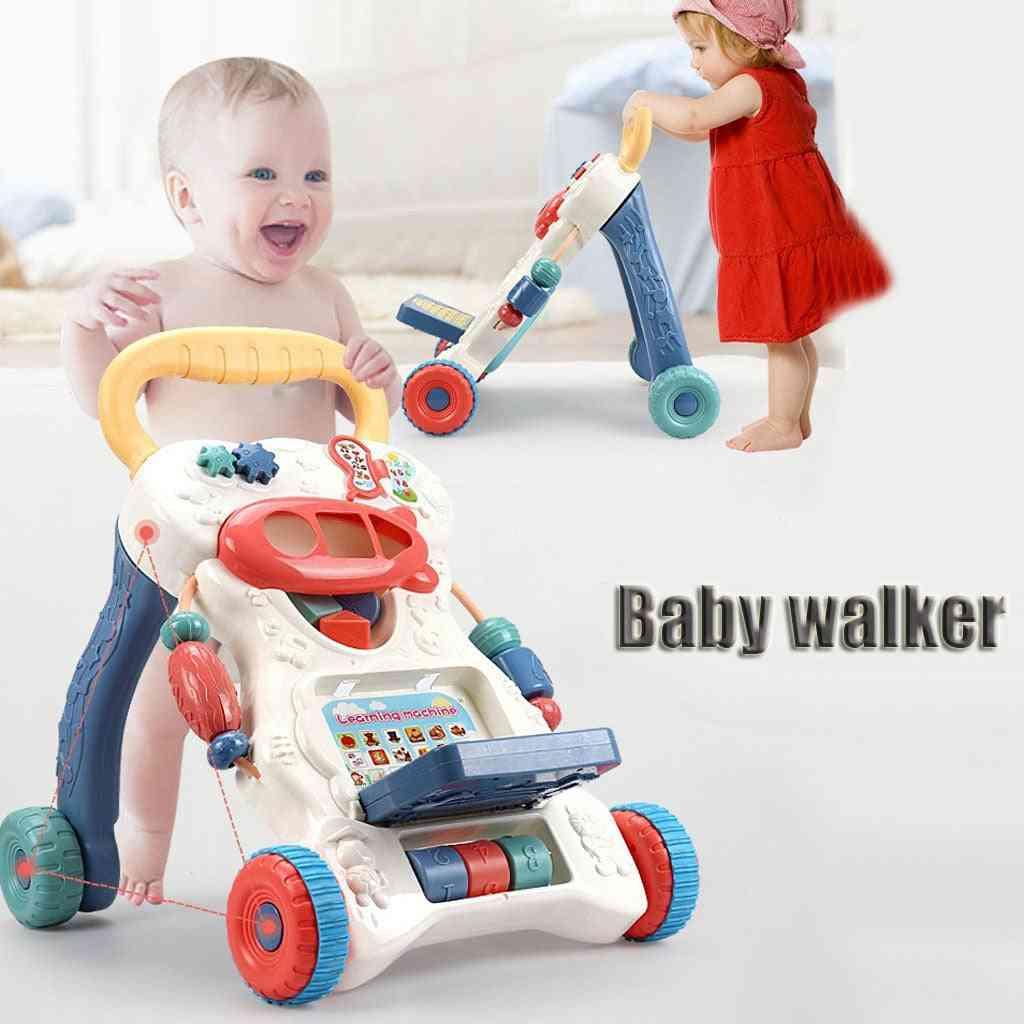 Four-wheel Balance Baby, Stroller Walker, Multifunctional Anti-rollover For Learning Walk (multi)