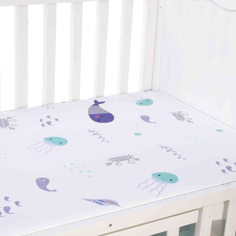 Microfabric Percale Fitted Portable / Mini Crib Bed Sheet / Fitted Crib Sheet- Soft Baby Bed Mattress Cover