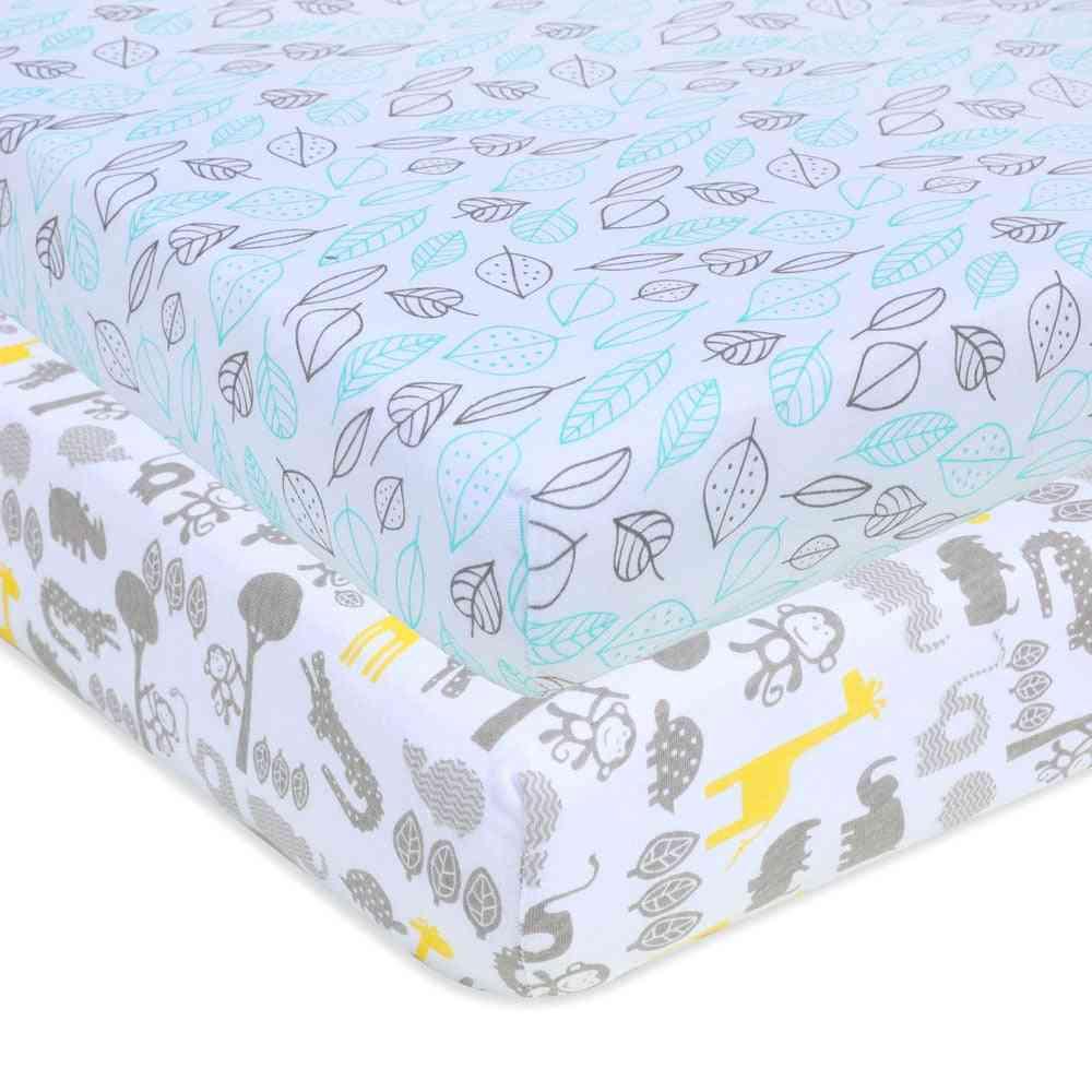 Cotton Mattress Sheets For Universal Baby Crib