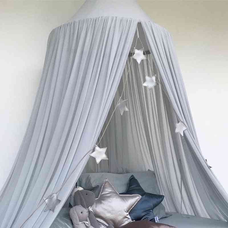 Kid Bed Canopy-round Dome Tent For Room Decoration