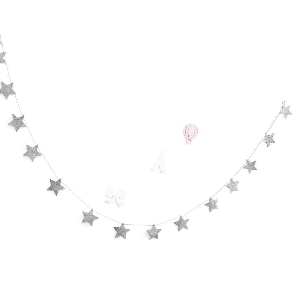 Sparkling Stars Hanging For's Rooms Decor