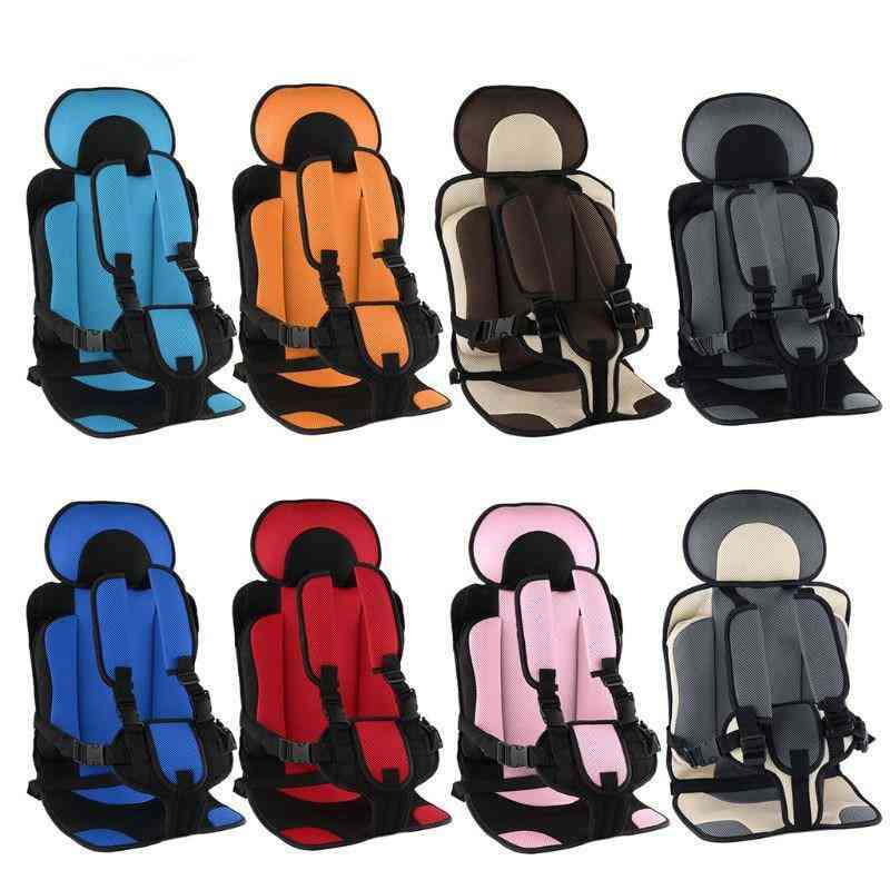 Child Safety Cushion With 5 Point Seat Belt During Travelling