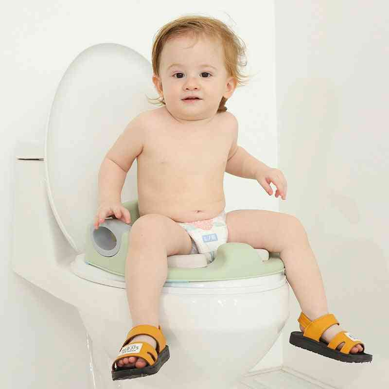 Potty Training Seat For / With Handles, Fits Round & Oval Toilets
