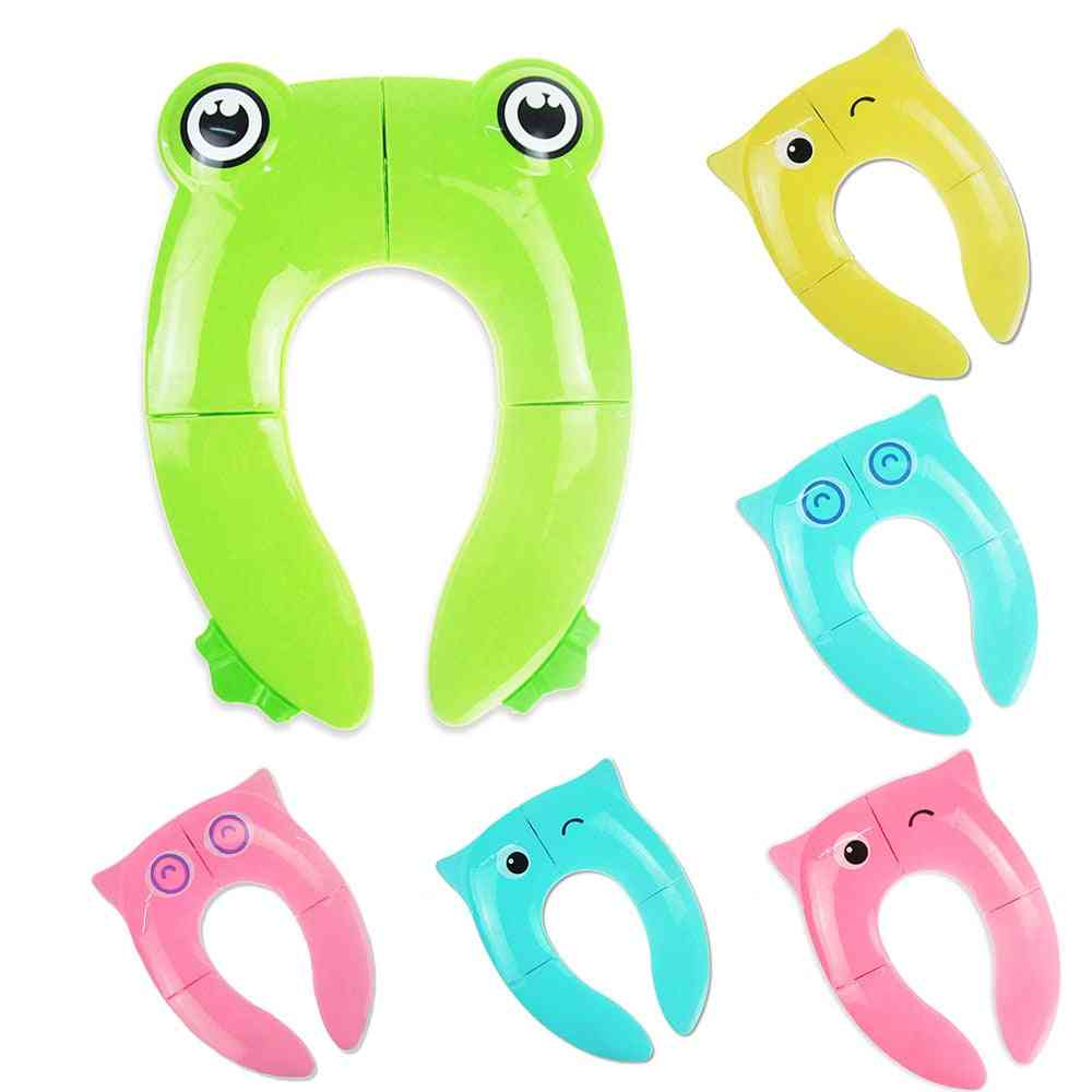 Folding Potty Seat Pad - Toilet Training Seat Cover Cushion For Toddler