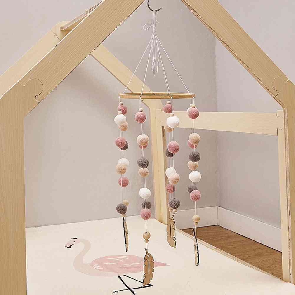 Beautiful Wooden Hanging Wind Chimes Craft For Baby Kids Bed Decoration