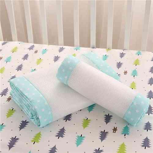 2pcs/set Breathable Summer Baby Bedding Bumper