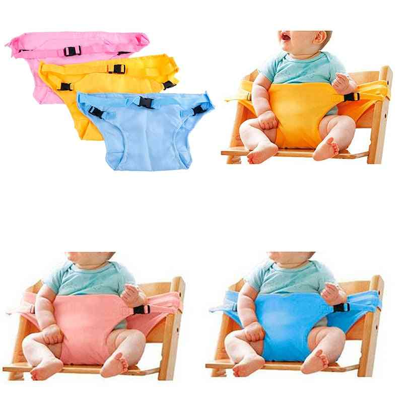 Baby Dinning Lunch Chair Seat Safety Harness Belt, Portable Infant Cover
