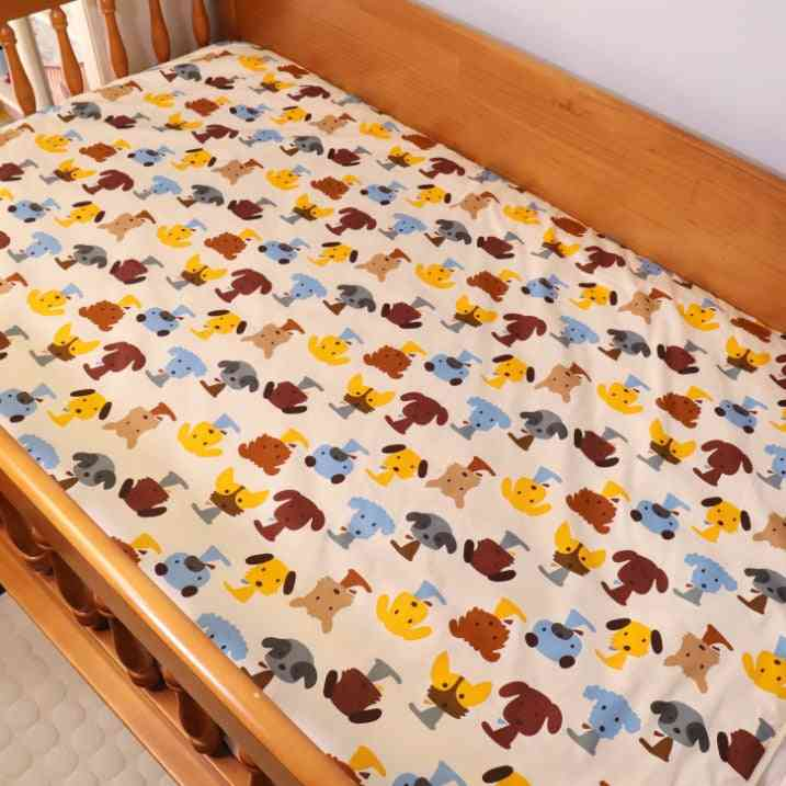 3 Layers Cotton Soft Baby Diaper Waterproof Protection Crib Sheets
