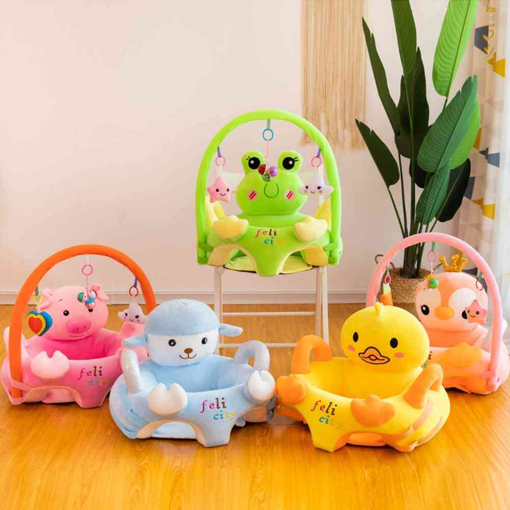 Baby Plush Chair,  Cartoon Learning Sit, With Rod