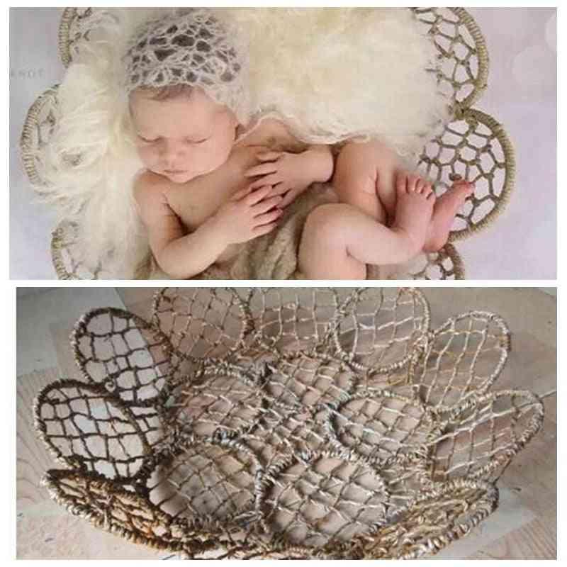 Newborn Photography Props Iron Weaving Basket Frame Fotografia Accessories, Baby Studio Shooting Props
