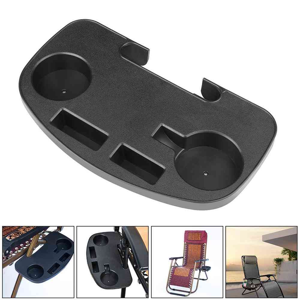 Portable Chair Side Table( Cup Holder Clip +1pcs Silicone Coaster )