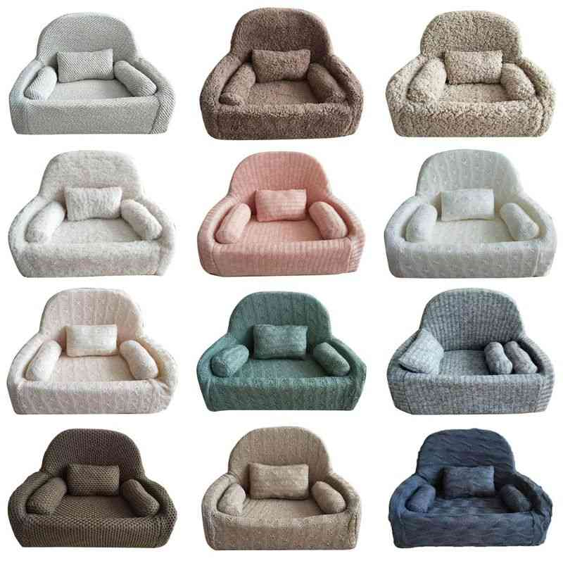 Newborn Photography Props Baby Posing Sofa Pillow Set, Chair Decoration